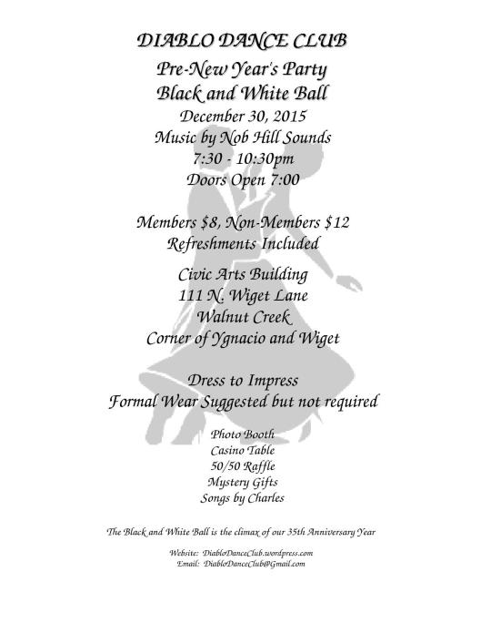 Black and White Ball Flyer